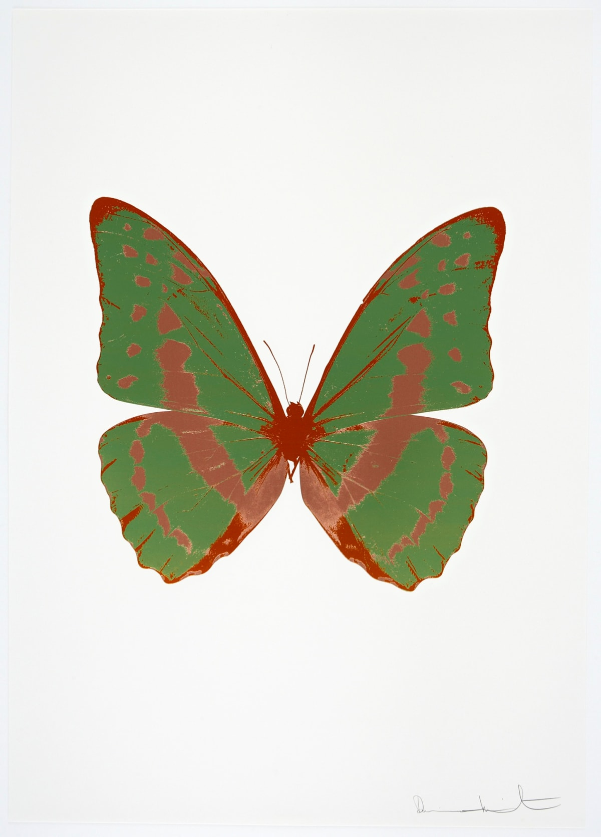 Damien Hirst The Souls III - Leaf Green/Rustic Copper/Prairie Copper, 2010 3 colour foil block on 300gsm Arches 88 archival paper. Signed and numbered. Published by Paul Stolper and Other Criteria 72 x 51cm OC7922 / 660-25 Edition of 15