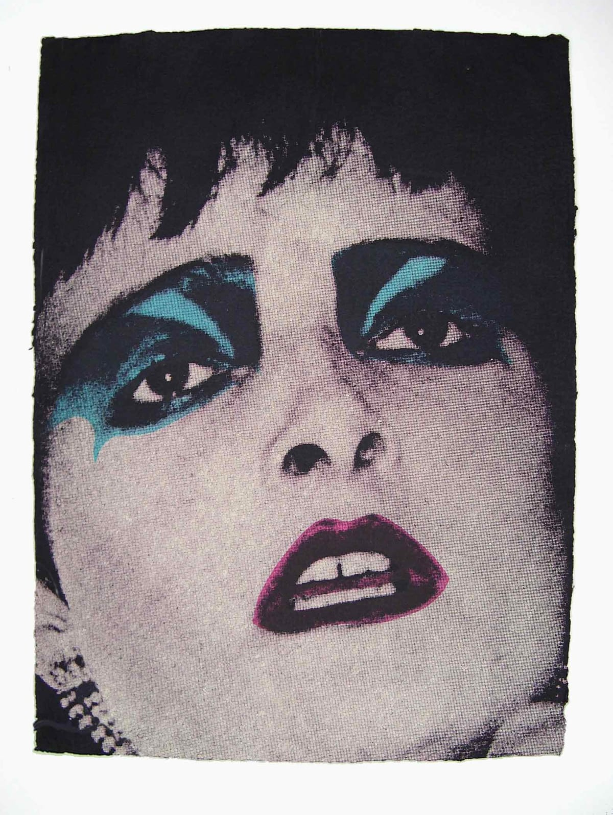 John Dove and Molly White Siouxsie (Face No.2), 2009 Screenprint on Hand-made Rag paper, made from recycled T-Shirts. Signed verso. Edition of 100. 76 x 56 cm 29.9 x 22 in Edition of 100