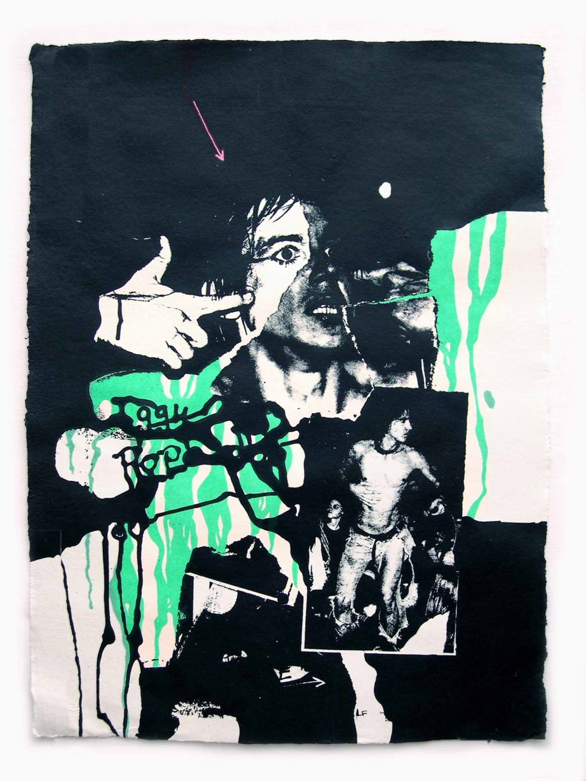 John Dove and and Molly White Iggy Pop (Rebel No.7), 2008 Screen print on hand-made rag paper, made from recycled T-Shirts. signed and numbered. Edition of 24. 76 x 56 cm 29.9 x 22 in Edition of 24 plus 1 artist's proof