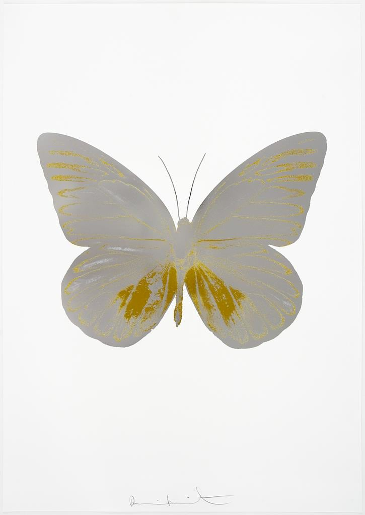 Damien Hirst The Souls I - Silver Gloss/Oriental Gold, 2010 2 colour foil block on 300gsm Arches 88 archival paper. Signed and numbered. Published by Paul Stolper and Other Criteria 72 x 51cm OC7772 / 659-35 Edition of 15