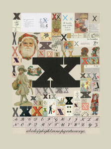 Peter Blake The Letter X, 2007 Silkscreen, embossing and glaze on Somerset satin 300gsm Signed and numbered 52 x 37.5 cm Edition of 60