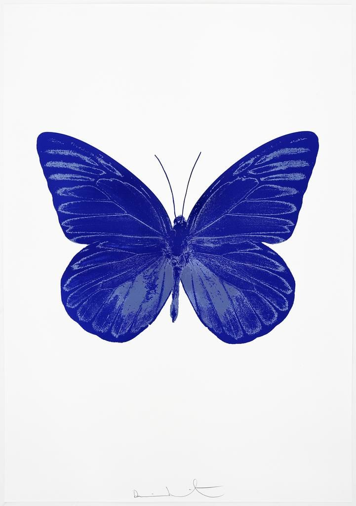 Damien Hirst The Souls I - Westminster Blue/Cornflower Blue, 2010 2 colour foil block on 300gsm Arches 88 archival paper. Signed and numbered. Published by Paul Stolper and Other Criteria 72 x 51cm OC7789 / 659-52 Edition of 15