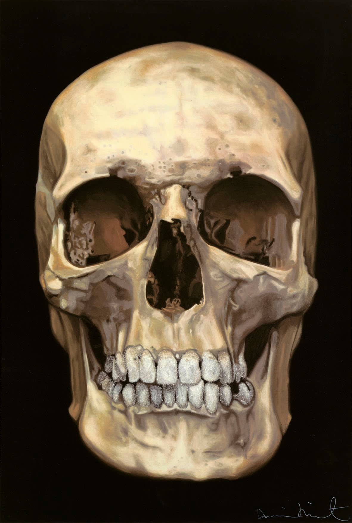 Damien Hirst The Skull Beneath the Skin, 2005 Silkscreen with diamond dust on Somerset satin 410gsm Signed and numbered 100 x 66.7cm Edition of 155
