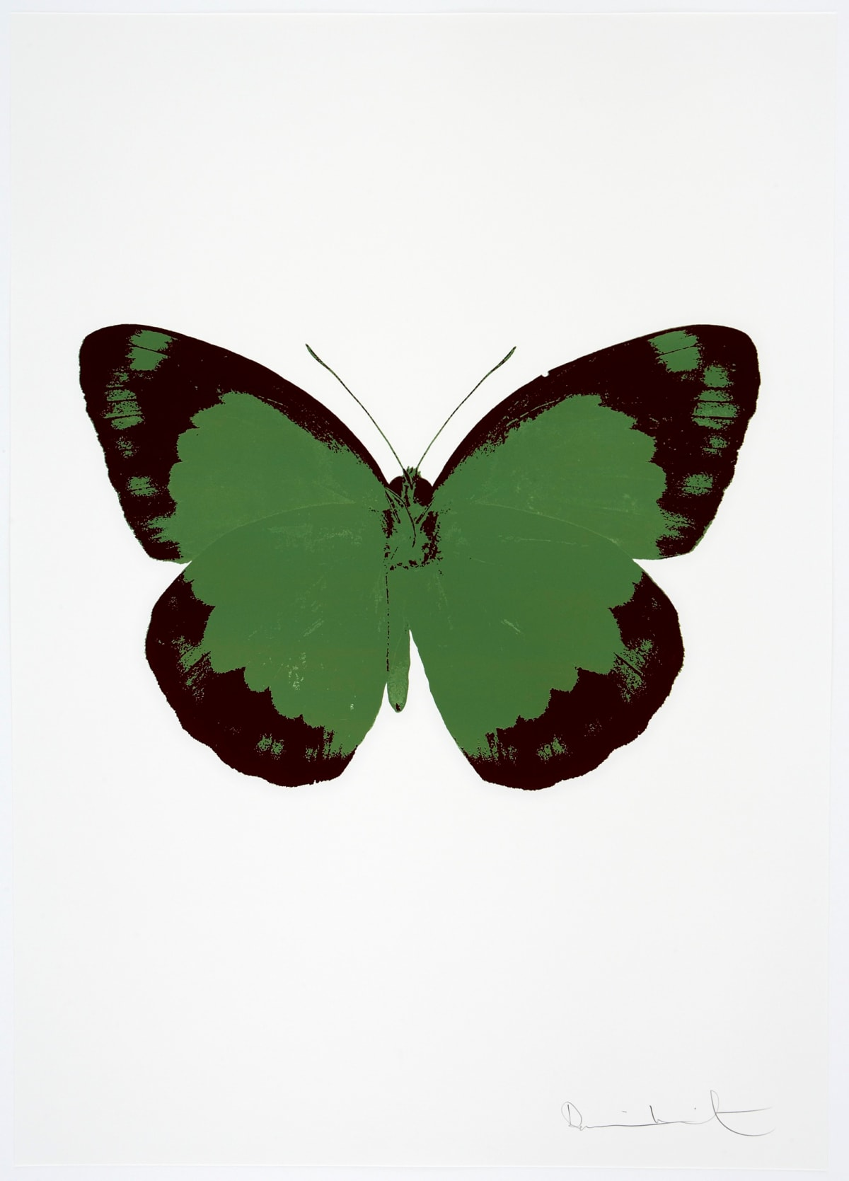 Damien Hirst The Souls II - Leaf Green/Burgundy/Blind Impression, 2010 2 colour foil block on 300gsm Arches 88 archival paper. Signed and numbered. Published by Paul Stolper and Other Criteria 72 x 51cm OC7892 / 658-75 Edition of 15