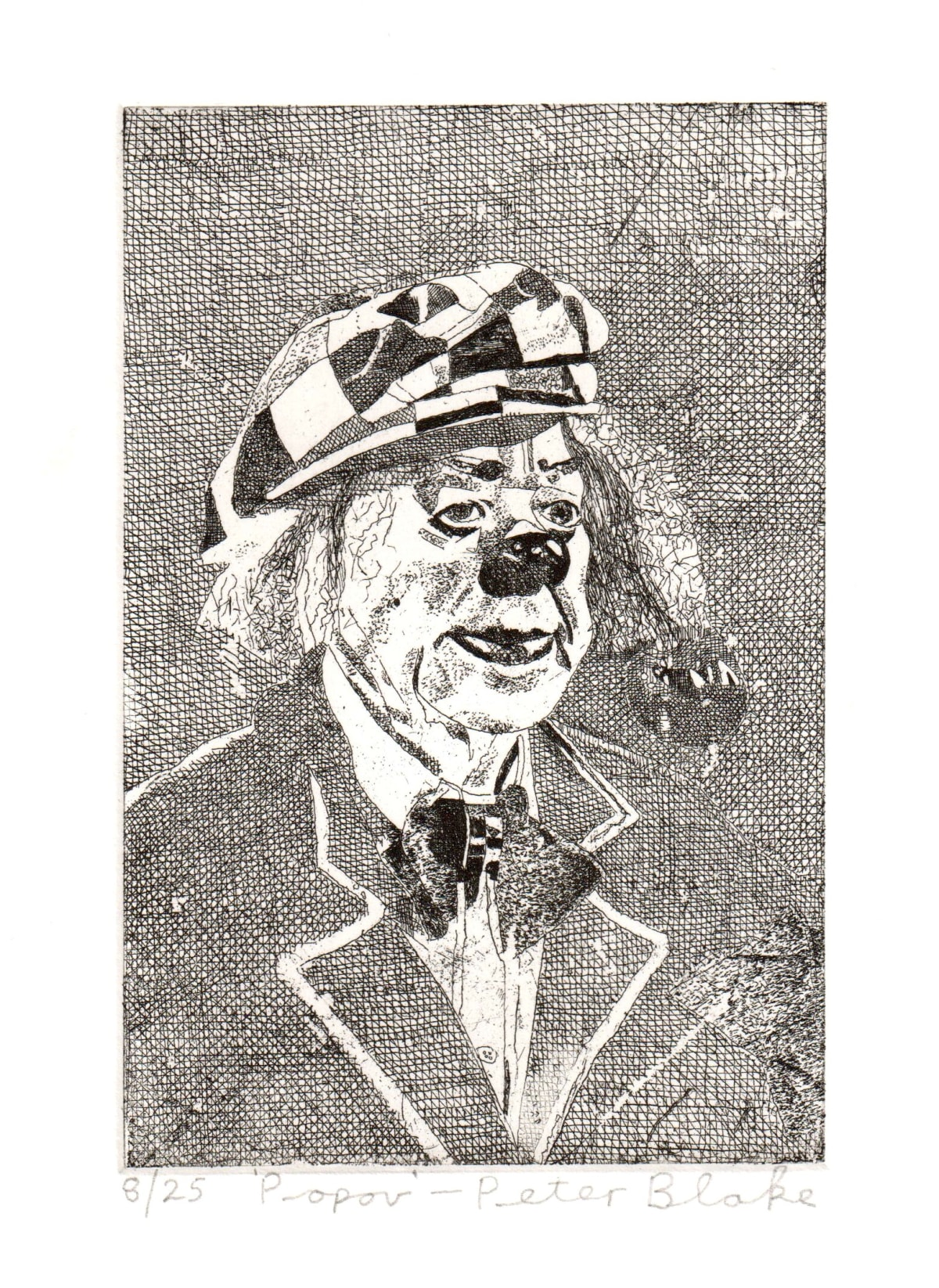 Peter Blake Popov, 2019 Etching on somerset 300gsm velvet Signed, titled and numbered Sheet Size: 26 x 21 cm Image size: 10 x 15 cm Edition of 25