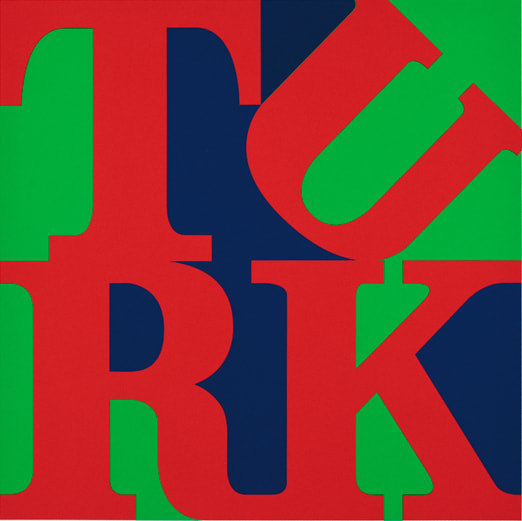 Gavin Turk Turk Love Red, 2009 Screen print on somerset 410 gsm. Edition of 50. Signed and numbered. 64 x 74 cm Framed 25.2 x 29.1 in Framed ed.17/50