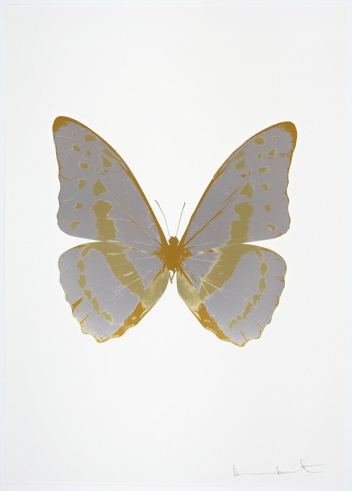 Damien Hirst The Souls III - Silver Gloss/Cool Gold/Luxury Gold, 2010 3 colour foil block on 300gsm Arches 88 archival paper. Signed and numbered. Published by Paul Stolper and Other Criteria 72 x 51cm OC7934 / 660-37 Edition of 15
