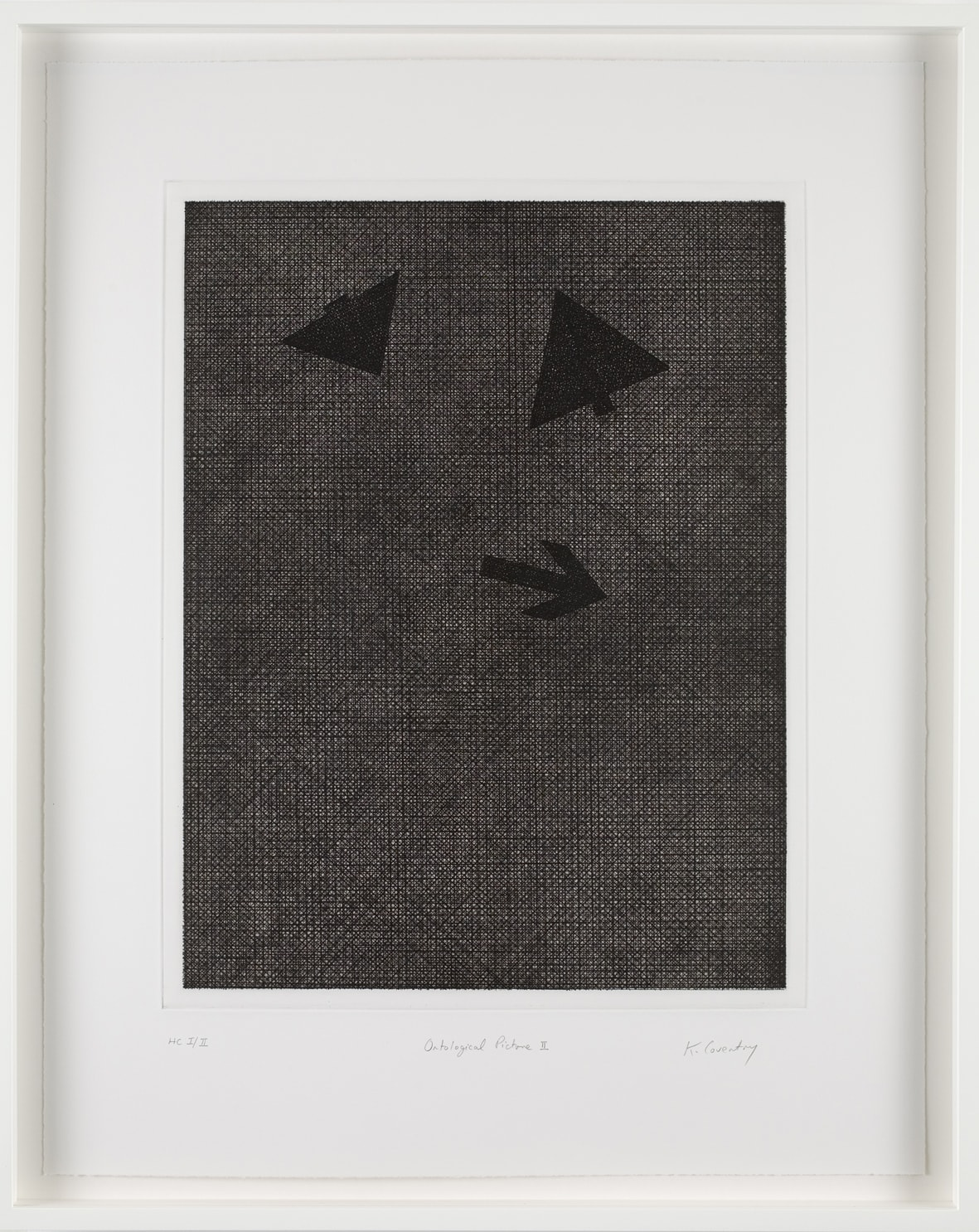 Keith Coventry Ontological Picture II, 2008 Etching on Somerset 300gsm Signed, Titled and Numbered 61 x 48.5 cm Edition of 50