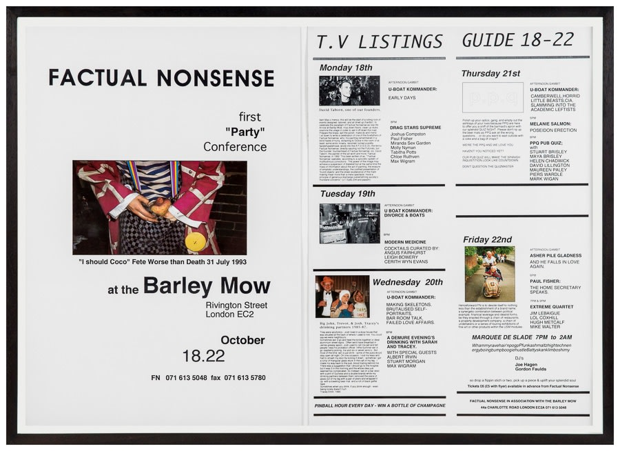 """Factual Nonsense First """"Party"""" Conference Poster, 1993 48 x 33 cm"""