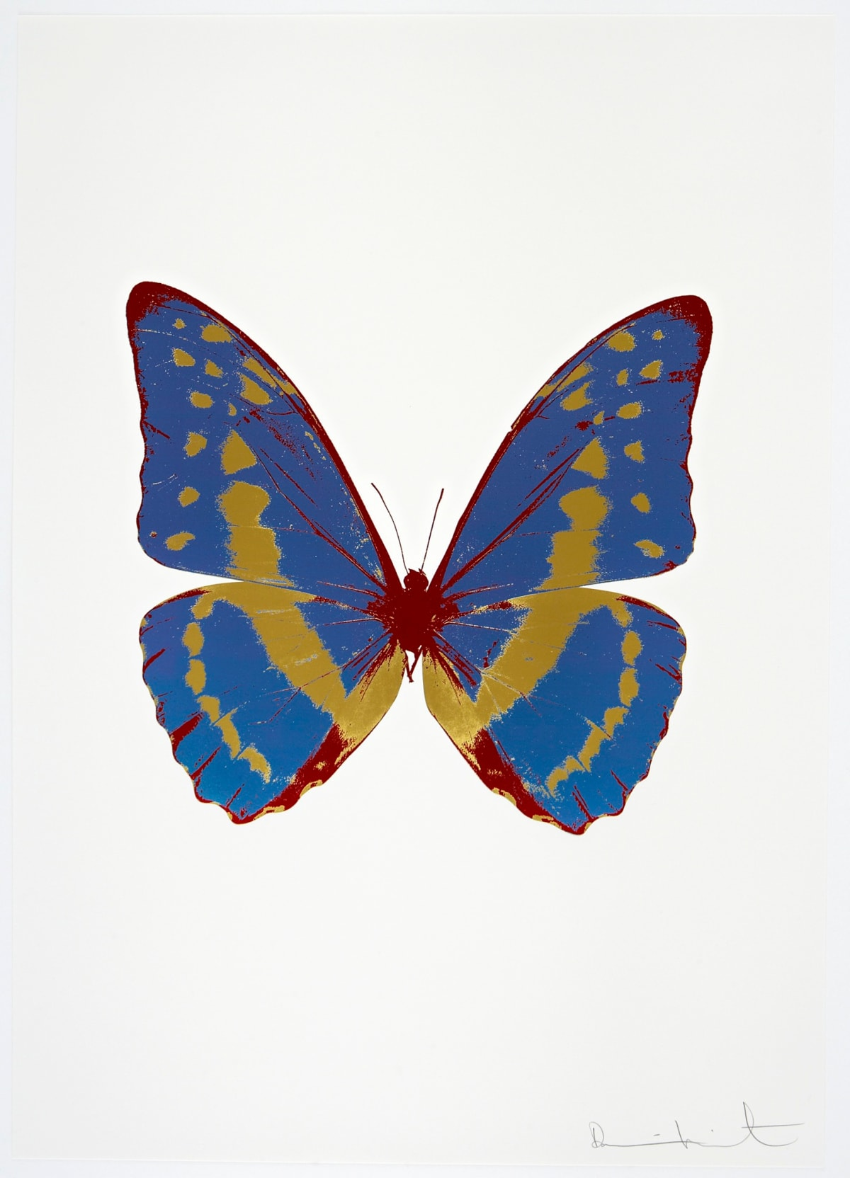 Damien Hirst The Souls III - Frost Blue/Oriental Gold/Chilli Red, 2010 3 colour foil block on 300gsm Arches 88 archival paper. Signed and numbered. Published by Paul Stolper and Other Criteria 72 x 51cm OC7976 / 660-79 Edition of 15