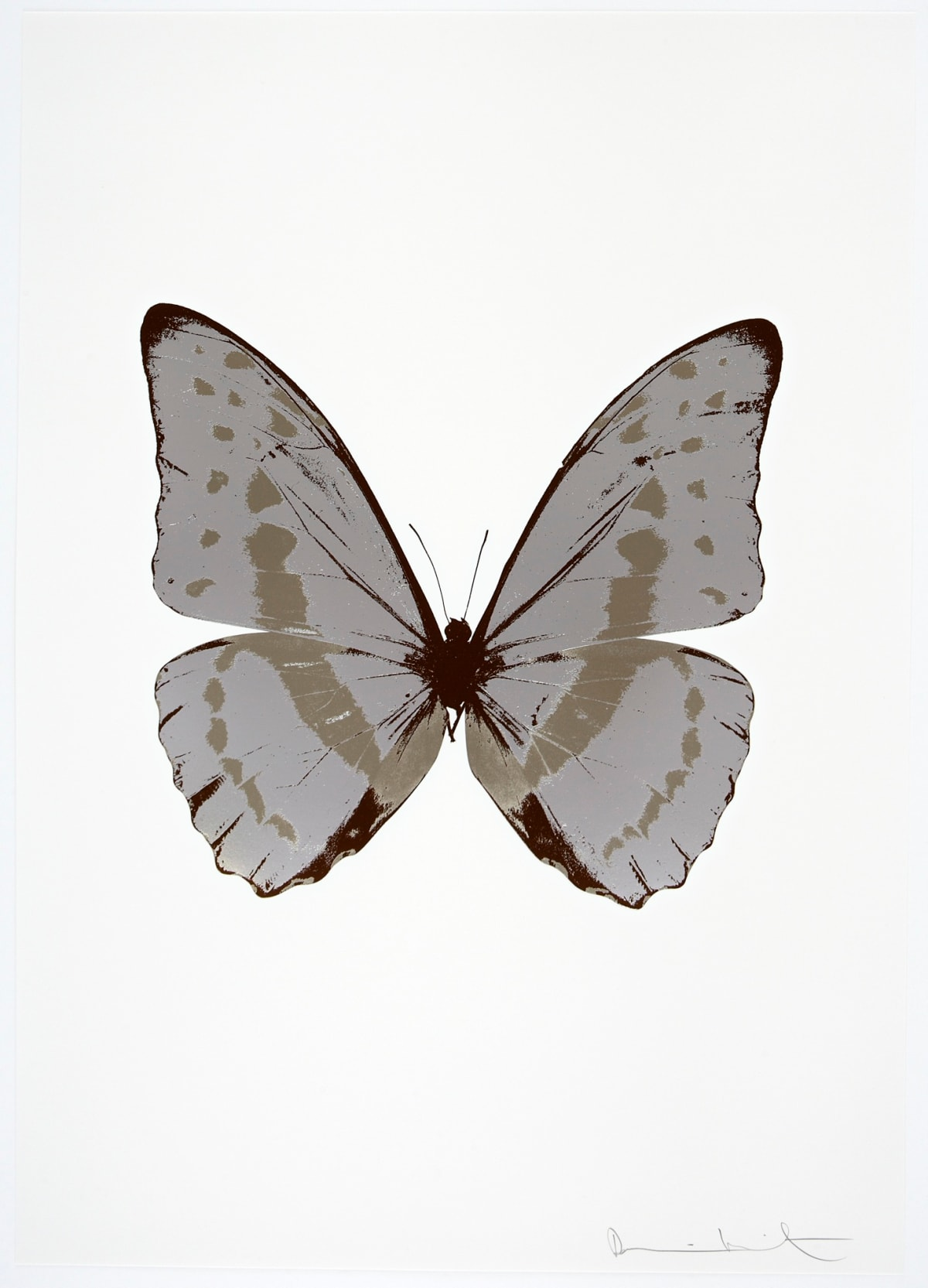 Damien Hirst The Souls III - Silver Gloss/Smoke/Chocolate, 2010 3 colour foil block on 300gsm Arches 88 archival paper. Signed and numbered. Published by Paul Stolper and Other Criteria 72 x 51cm OC7920 / 660-23 Edition of 15