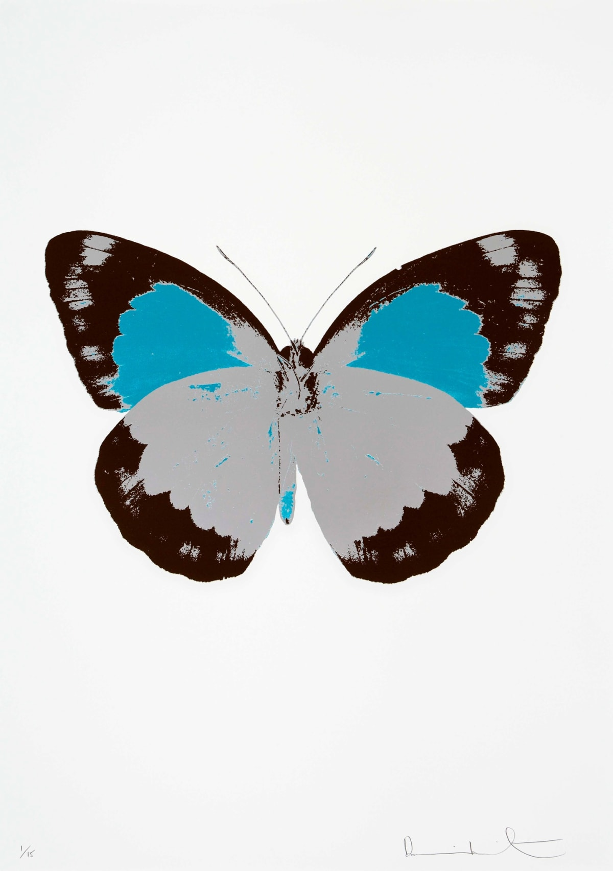 Damien Hirst The Souls II - Silver Gloss/Chocolate/Topaz, 2010 3 colour foil block on 300gsm Arches 88 archival paper. Signed and numbered. Published by Paul Stolper and Other Criteria 72 x 51cm OC7881 / 658-64 Edition of 15