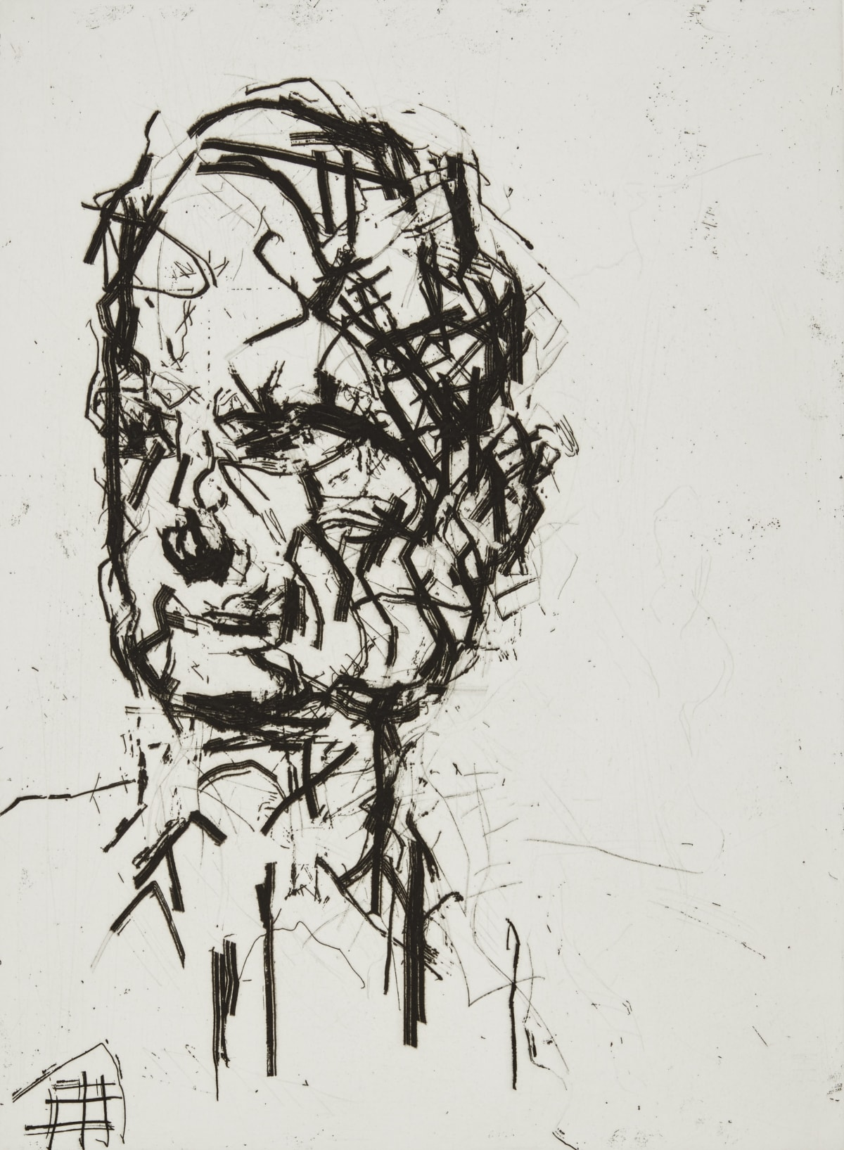 Frank Auerbach David, 2007 Etching and aquatint with engraving Sheet size: 63 x 50 cm / 24.8 x 19.7 in Framed size: 72.5 x 60 cm / 28.5 x 23.5 in 7/40 Signed, numbered and titled