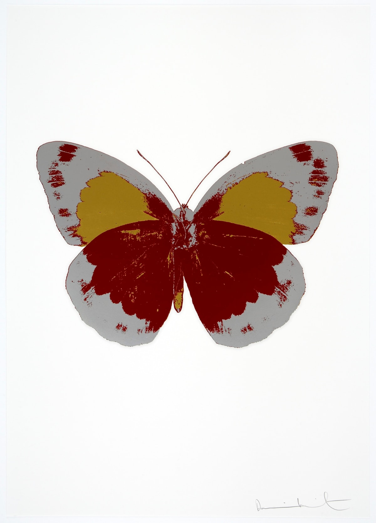 Damien Hirst The Souls II - Chilli Red/Silver Gloss/Oriental Gold, 2010 3 colour foil block on 300gsm Arches 88 archival paper. Signed and numbered. Published by Paul Stolper and Other Criteria 72 x 51cm OC7861 / 658-44 Edition of 15