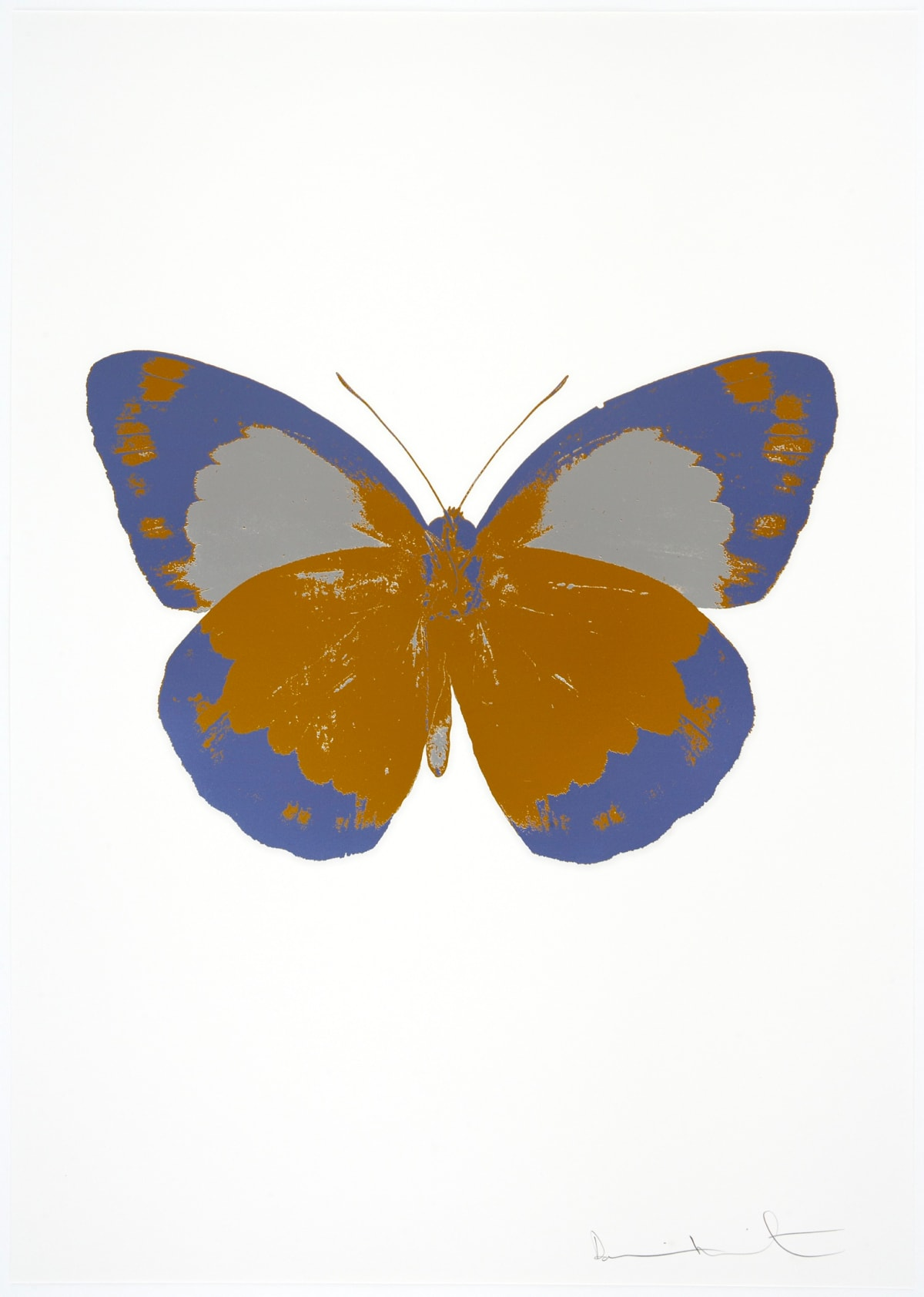Damien Hirst The Souls II - Paradise Copper/Cornflower Blue/Silver Gloss, 2010 3 colour foil block on 300gsm Arches 88 archival paper. Signed and numbered. Published by Paul Stolper and Other Criteria 72 x 51cm OC7864 / 658-47 Edition of 15