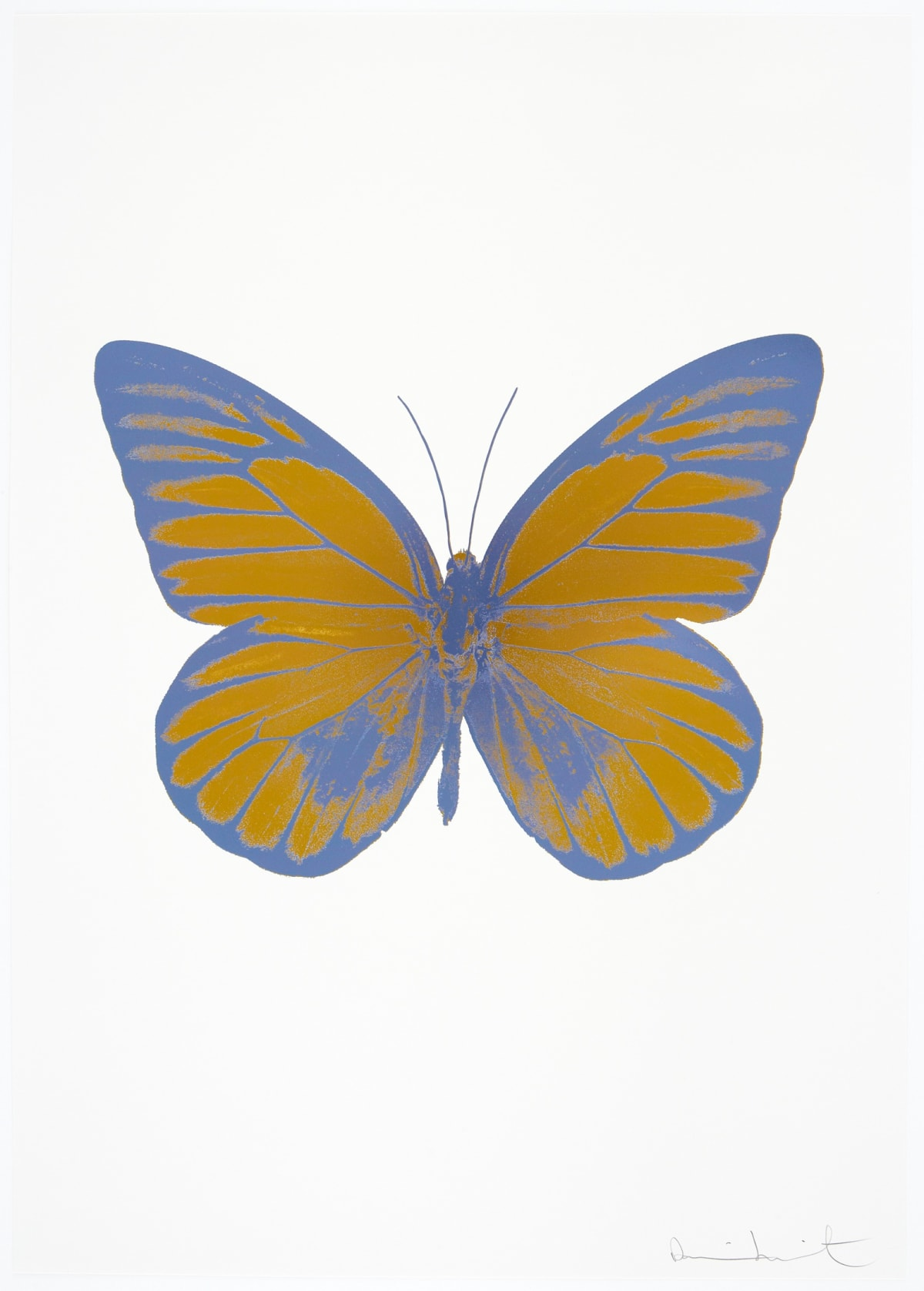 Damien Hirst The Souls I - Paradise Copper/Cornflower Blue/Cornflower Blue, 2010 2 colour foil block on 300gsm Arches 88 archival paper. Signed and numbered. Published by Paul Stolper and Other Criteria 72 x 51cm OC7751 / 659-14 Edition of 15