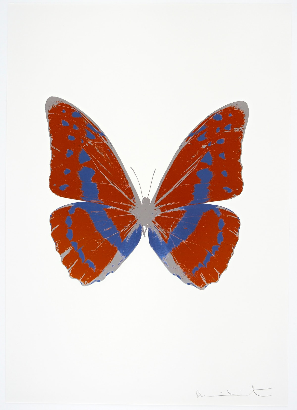 Damien Hirst The Souls III - Prairie Copper/Frost Blue/Silver Gloss, 2010 3 colour foil block on 300gsm Arches 88 archival paper. Signed and numbered. Published by Paul Stolper and Other Criteria 72 x 51cm OC7917 / 660-20 Edition of 15