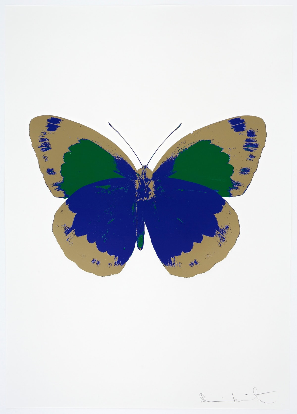 Damien Hirst The Souls II - Westminster Blue/Cool Gold/Emerald Green, 2010 3 colour foil block on 300gsm Arches 88 archival paper. Signed and numbered. Published by Paul Stolper and Other Criteria 72 x 51cm OC7884 658-67 Edition of 15