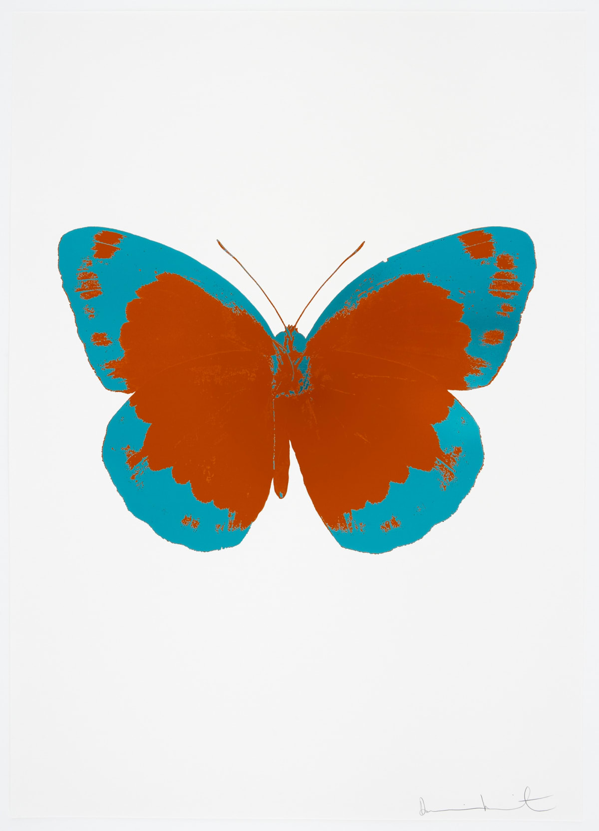 Damien Hirst The Souls II - Prairie Copper/Topaz/Blind Impression, 2010 2 colour foil block on 300gsm Arches 88 archival paper. Signed and numbered. Published by Paul Stolper and Other Criteria. OC7848 72 x 51cm Edition of 15