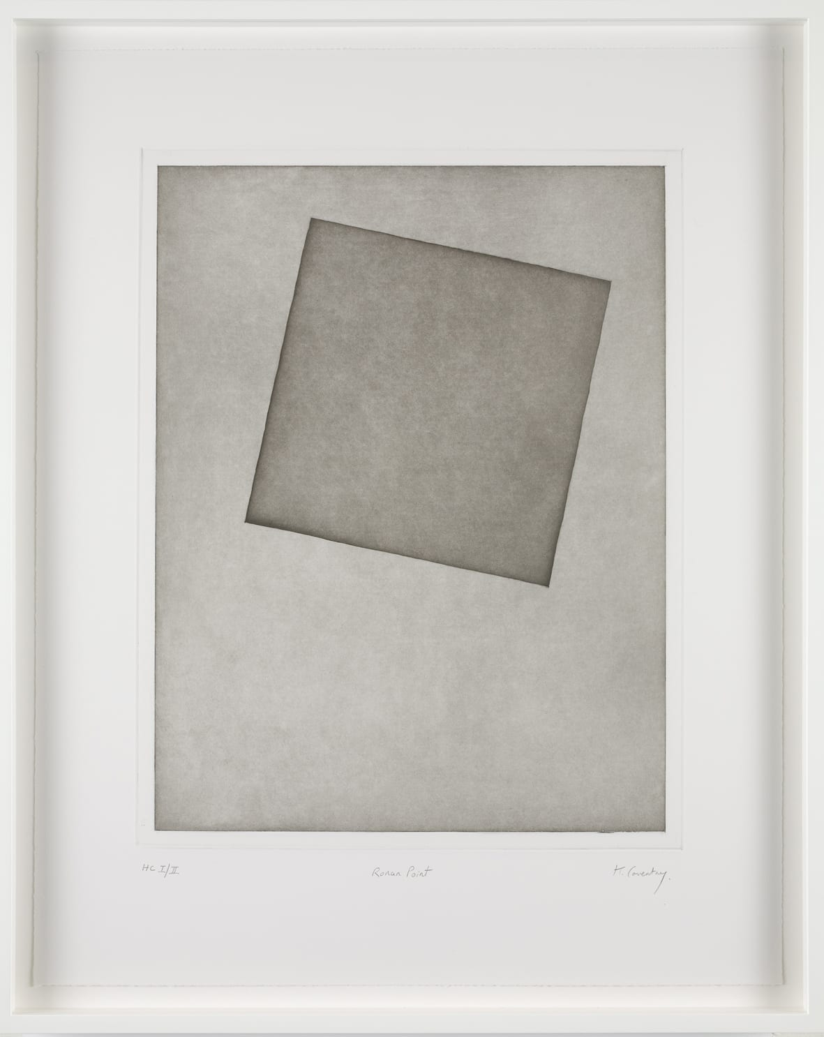 Keith Coventry Ronan Point, 2008 Etching on Somerset 300gsm Signed, titled and numbered 61 x 48.5 cm Edition of 50