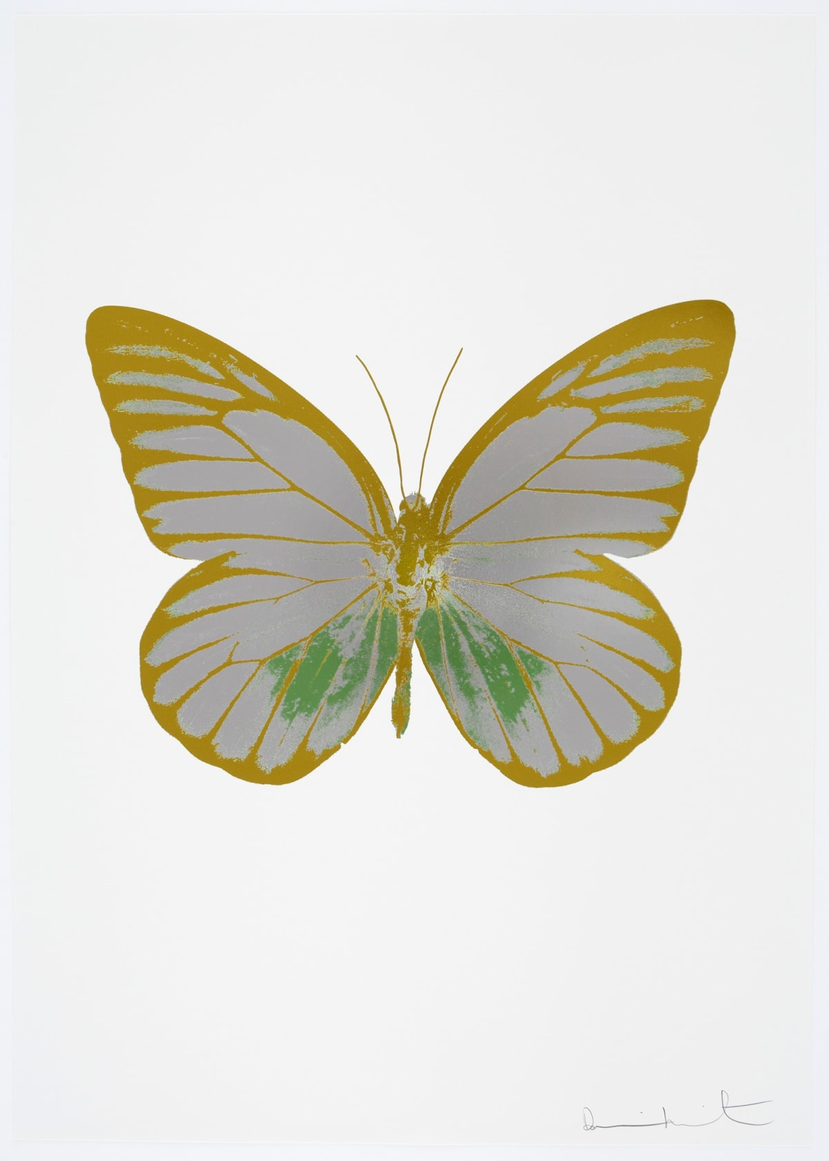 Damien Hirst The Souls I - Silver Gloss/Leaf Green/Oriental Gold, 2010 3 colour foil block on 300gsm Arches 88 archival paper. Signed and numbered. Published by Paul Stolper and Other Criteria 72 x 51cm OC7745 / 659-8 Edition of 15