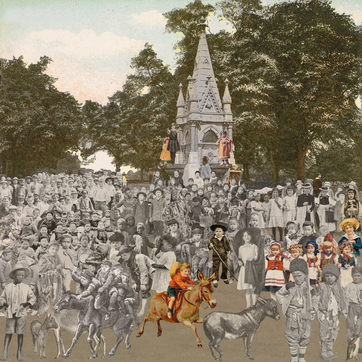 Peter Blake London- Regent's Park- The Runaway Donkeys, 2012 Silkscreen print on 410gsm Somerset Tub Sized Signed and numbered by artist. 66.6. x 65.2 cm Edition of 100