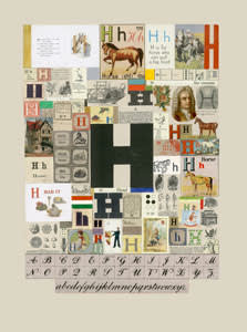 Peter Blake The Letter H, 2007 Silkscreen, embossing and glaze on Somerset satin 300gsm Signed and numbered 52 x 37.5 cm Edition of 60