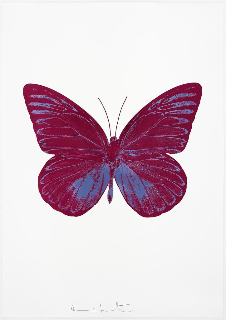 Damien Hirst The Souls I - Fuchsia Pink/Cornflower Blue, 2010 2 colour foil block on 300gsm Arches 88 archival paper. Signed and numbered. Published by Paul Stolper and Other Criteria 72 x 51cm OC7793 / 659-56 Edition of 15