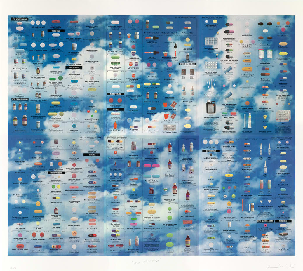 Damien Hirst New Religion (Sky), 2005 Silkscreen on Somerset satin 410gsm 6 Sheets 200cm x 200cm Edition of 55 Signed and numbered. Published by Paul Stolper and Other Criteria