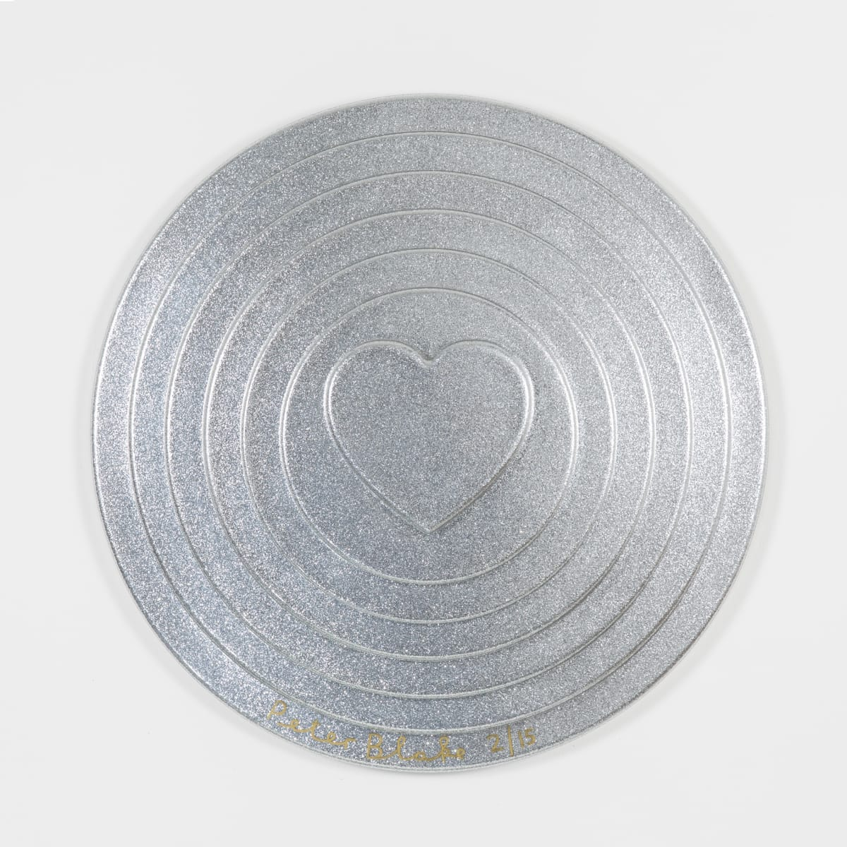 Peter Blake Silver Target (metal flake) , 2017 Vacuum formed plastic, paint 69 x 69 x 10 cm Edition of 15 Signed and numbered