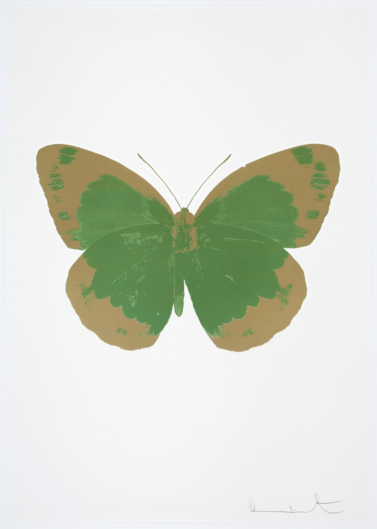 Damien Hirst The Souls II - Leaf Green/Cool Gold/Blind Impression, 2010 2 colour foil block on 300gsm Arches 88 archival paper. Signed and numbered. Published by Paul Stolper and Other Criteria 72 x 51cm OC7854 / 658-37 Edition of 15