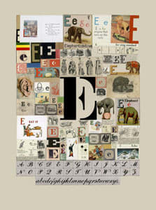 Peter Blake The Letter E, 2007 Silkscreen, embossing and glaze on Somerset satin 300gsm Signed and numbered 52 x 37.5 cm Edition of 60
