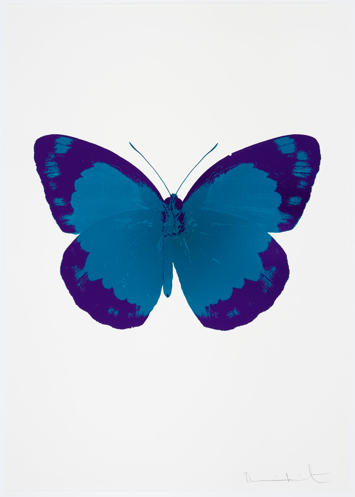 Damien Hirst The Souls II - Turquoise/Imperial Purple/Blind Impression, 2010 2 colour foil block on 300gsm Arches 88 archival paper. Signed and numbered. Published by Paul Stolper and Other Criteria 72 x 51cm OC7821 / 658-4 Edition of 15