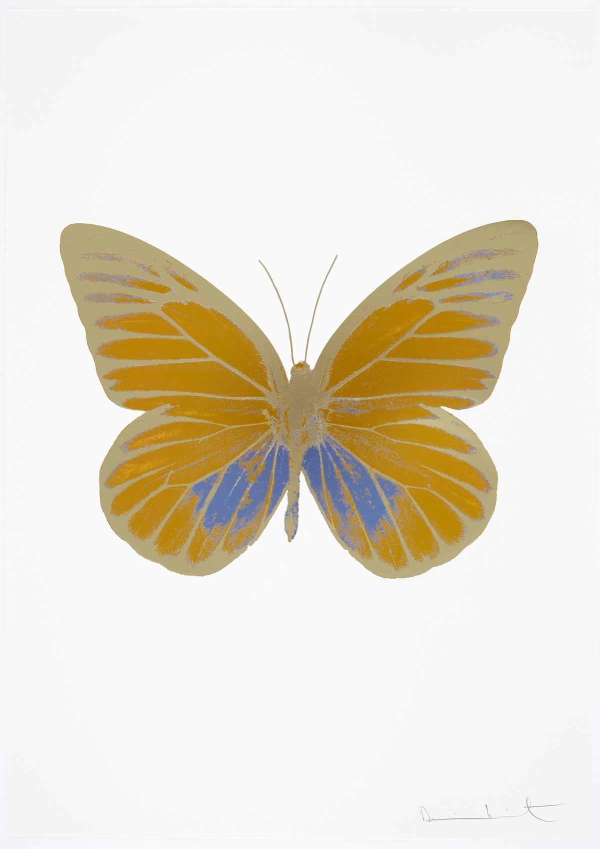 Damien Hirst The Souls I - Paradise Copper/Cornflower Blue/Cool Gold, 2010 3 colour foil block on 300gsm Arches 88 archival paper. Signed and numbered. Published by Paul Stolper and Other Criteria 72 x 51cm OC7757 / 659-20 Edition of 15
