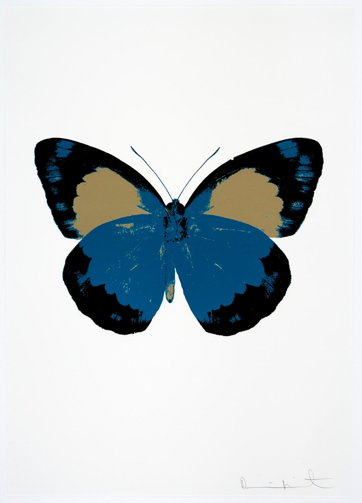 Damien Hirst The Souls II - Turquoise/Raven Black/Cool Gold, 2010 3 colour foil block on 300gsm Arches 88 archival paper. Signed and numbered. Published by Paul Stolper and Other Criteria 72 x 51cm OC7870 / 658-53 Edition of 15