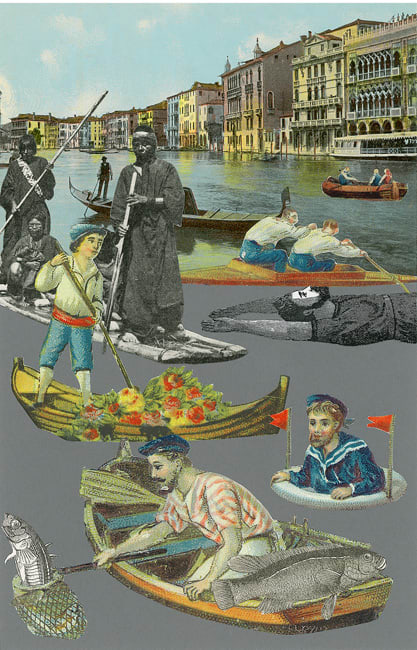 Peter Blake Venice - 'Fishing', 2009 Silkscreen printed on 400gsm Somerset tub Sized Signed and numbered by the artist 40.65 x 30.5 cm Edition of 75