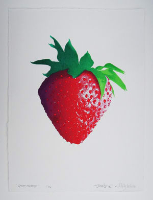 John Dove and Molly White Strawberry, 2012 Aqueous pigment ink and diamond dust on Somerset satin Titled and signed Edition of 24 61 x 46 cm 24 x 18.1 in Edition of 24