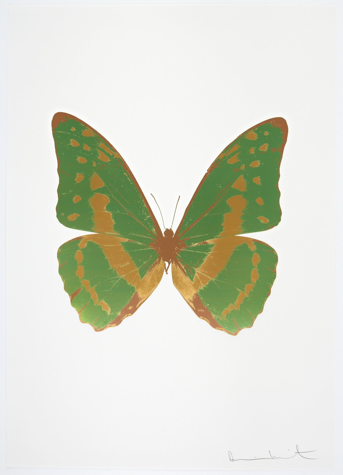 Damien Hirst The Souls III - Leaf Green/African Gold/Rustic Copper, 2010 3 colour foil block on 300gsm Arches 88 archival paper. Signed and numbered. Published by Paul Stolper and Other Criteria 72 x 51cm OC7977 / 660-80 Edition of 15