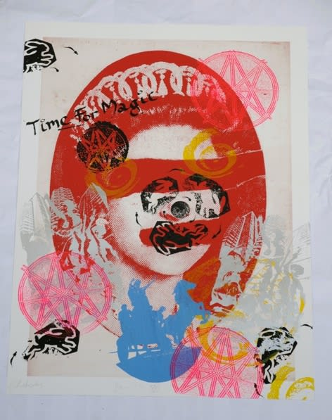 Jamie Reid Liberty (Red), 2011 Inkjet base print on 310 gsm Hahnemuhle 'German Etching' Paper with acrylic screen print additions. Signed, numbered and titled by the artist. Sheet size 112 x 82.4 cm. Sheet size 44.1 x 32.4 in ed.4/10