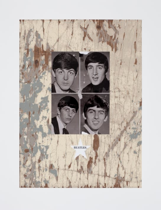 Peter Blake BEATLES., 2010 Silkscreen with photo collage and Diamond Dust. Signed and numbered by the artist. 75 cm x 58 cm Edition of 100
