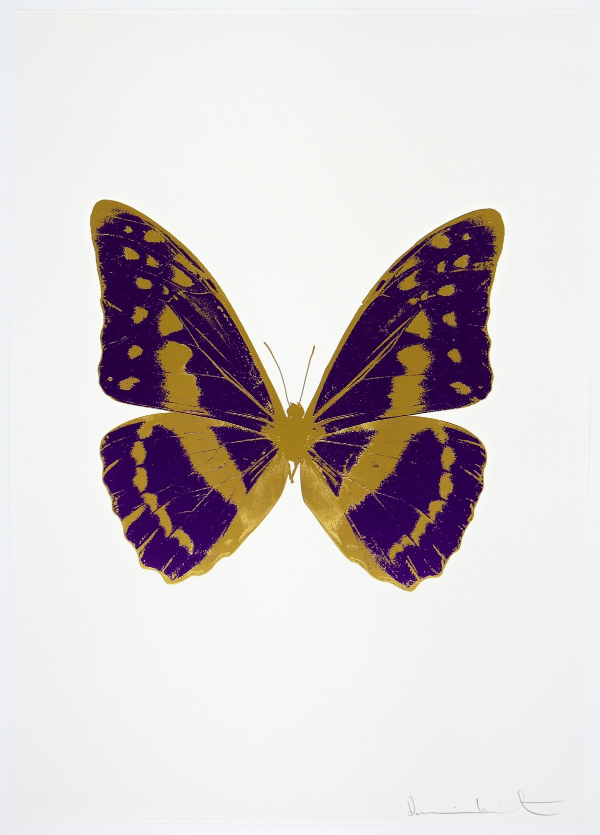 Damien Hirst The Souls III - Imperial Purple/Oriental Gold/Oriental Gold, 2010 2 colour foil block on 300gsm Arches 88 archival paper. Signed and numbered. Published by Paul Stolper and Other Criteria 72 x 51cm OC7966 / 660-69 Edition of 15