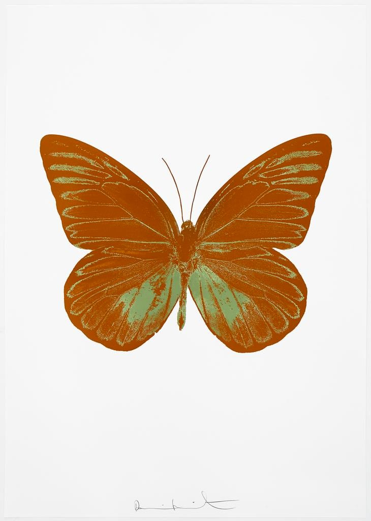 Damien Hirst The Souls I - Paradise Copper/Leaf Green, 2010 2 colour foil block on 300gsm Arches 88 archival paper. Signed and numbered. Published by Paul Stolper and Other Criteria 72 x 51cm OC7787 / 659-50 Edition of 15