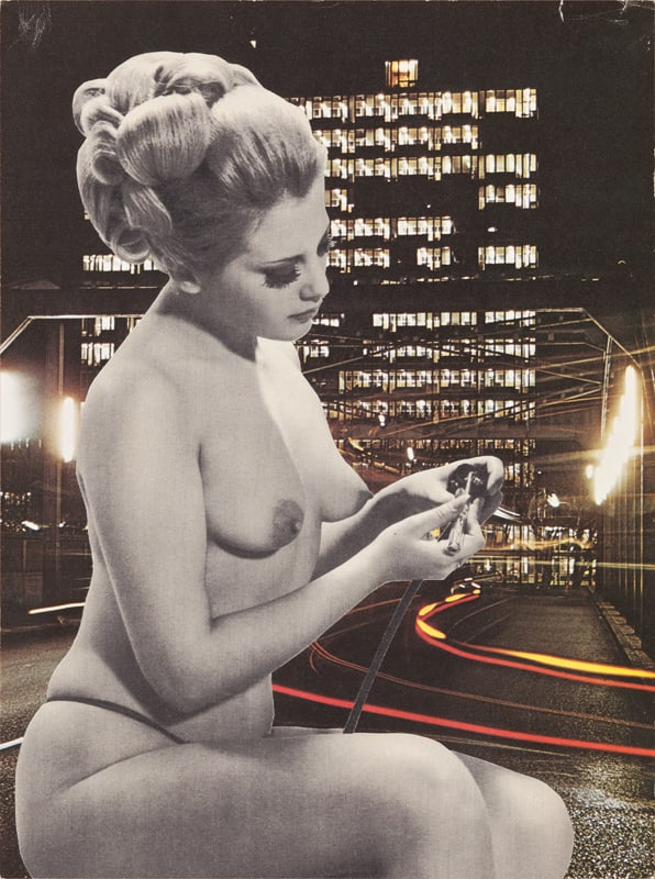 Sarah Hardacre Dab Hand, 2012 Collage: magazine cutting, xerographic print. Signed, titled and dated 28 x 20.5 cm