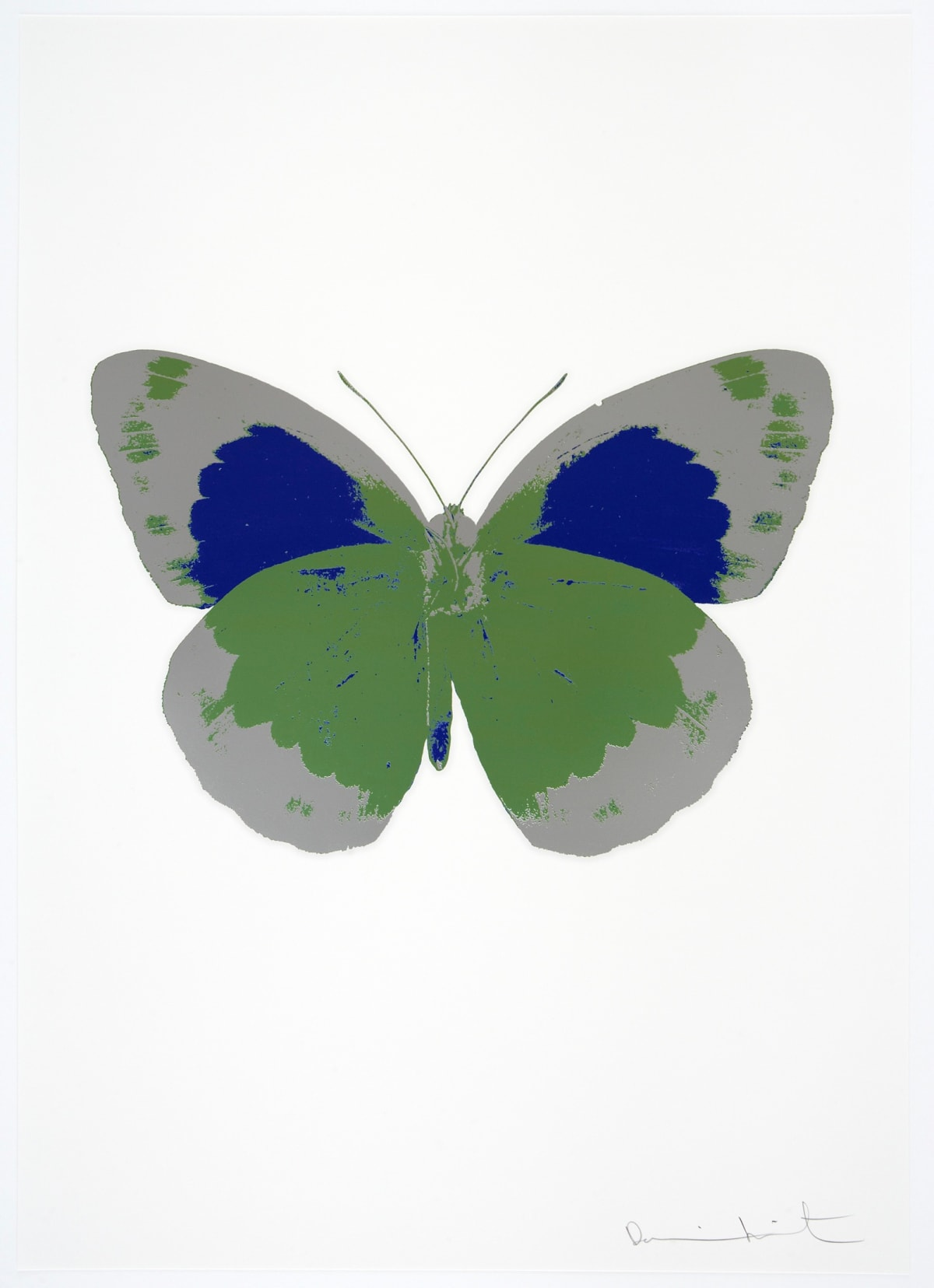 Damien Hirst The Souls II - Leaf Green/Silver Gloss/Westminster Blue, 2010 3 colour foil block on 300gsm Arches 88 archival paper. Signed and numbered. Published by Paul Stolper and Other Criteria 72 x 51cm OC7863 / 658-46 Edition of 15