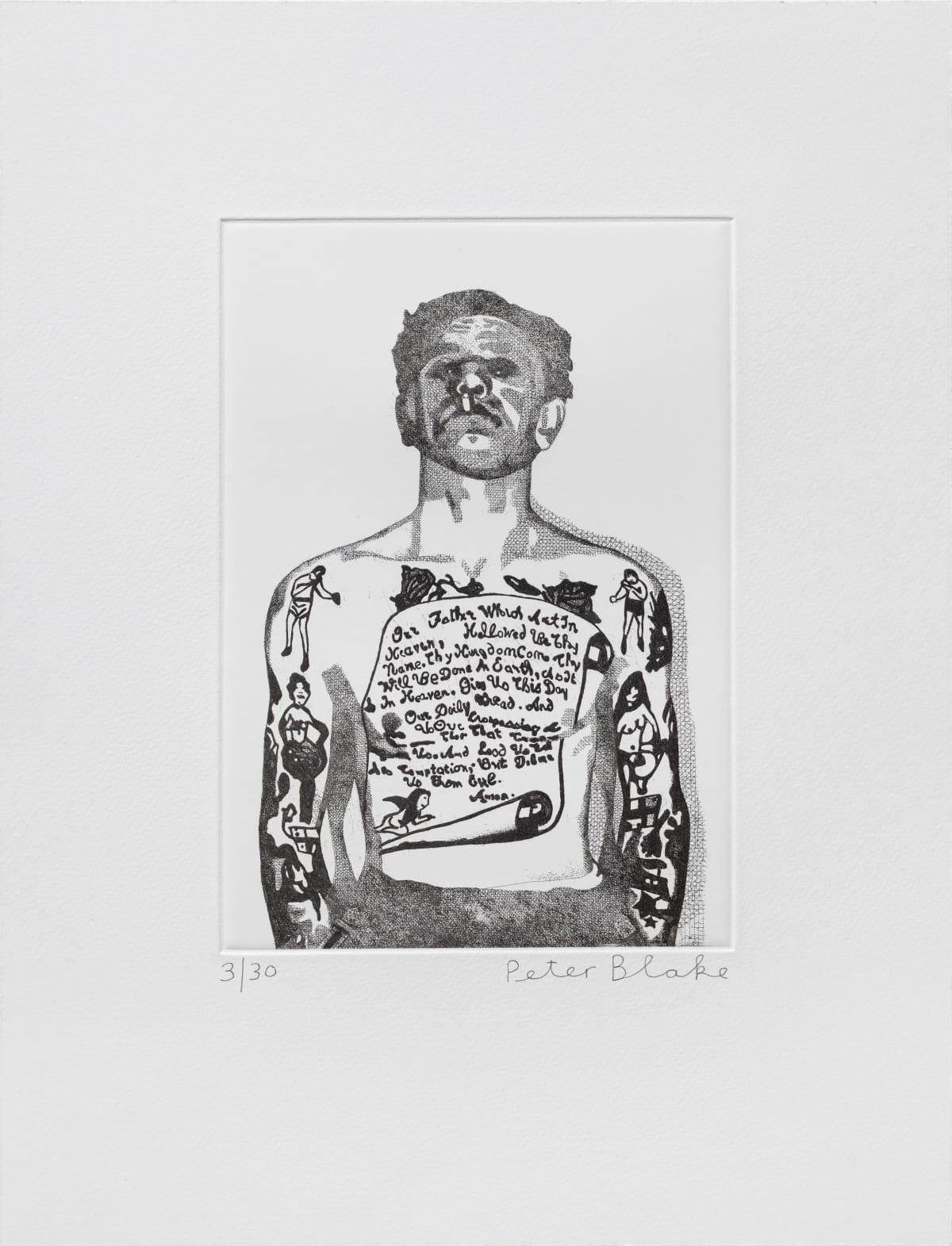 Peter Blake Reverend Ricky Wreck, 2014 Etching on Somerset white 300gsm. Signed and numbered 43 x 33 cm Edition of 30