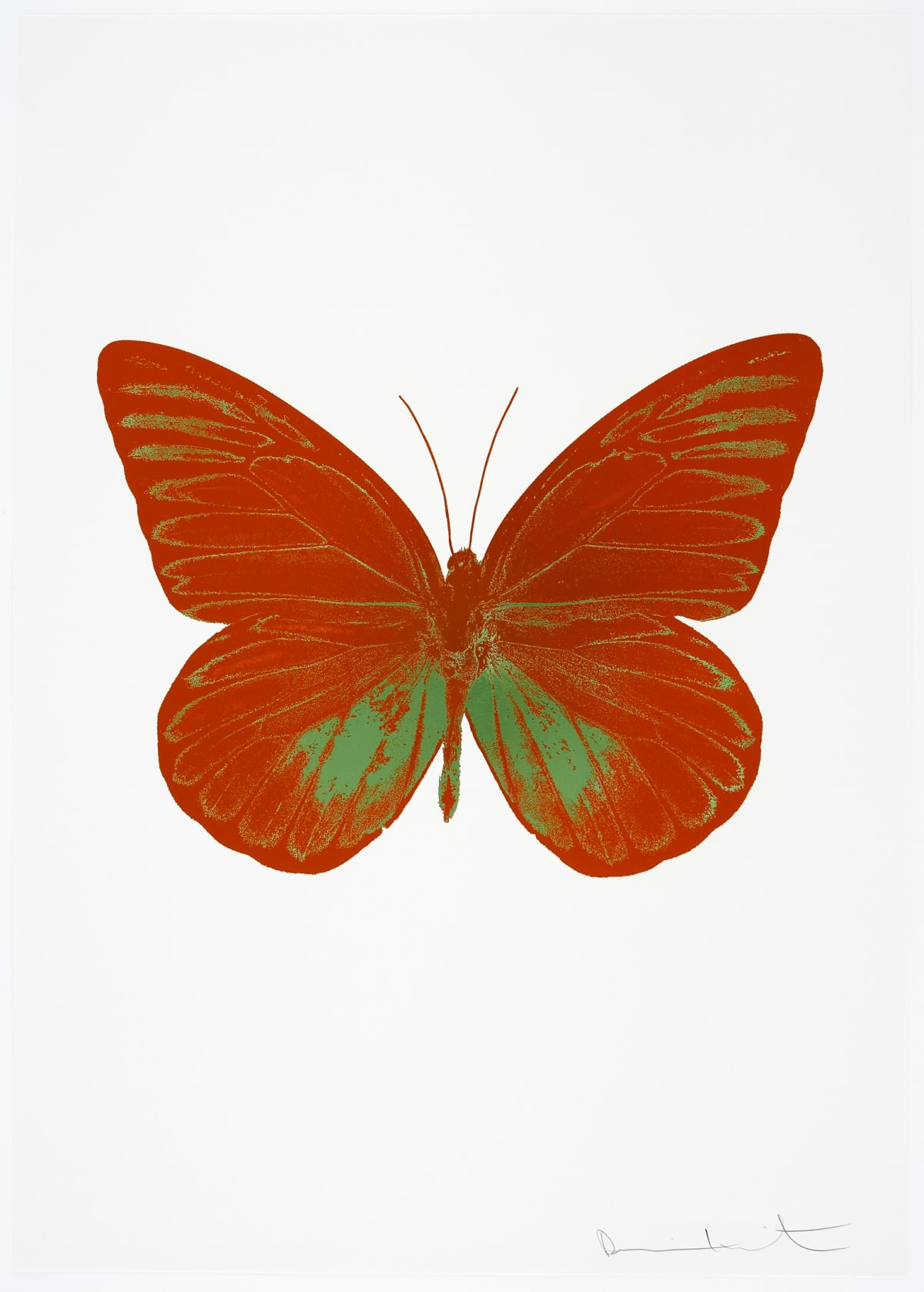 Damien Hirst The Souls I - Prairie Copper/Leaf Green, 2010 2 colour foil block on 300gsm Arches 88 archival paper. Signed and numbered. Published by Paul Stolper and Other Criteria 72 x 51cm OC7773 / 659-36 Edition of 15