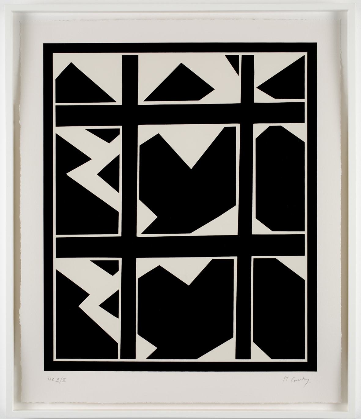 Keith Coventry Broken Window III, 2008 Silkscreen on Arches 410gsm Signed and numbered 71.4 x 59 cm Edition of 50