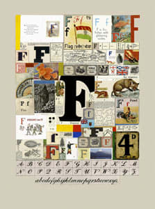 Peter Blake The Letter F, 2007 Silkscreen, embossing and glaze on Somerset satin 300gsm Signed and numbered 52 x 37.5 cm Edition of 60