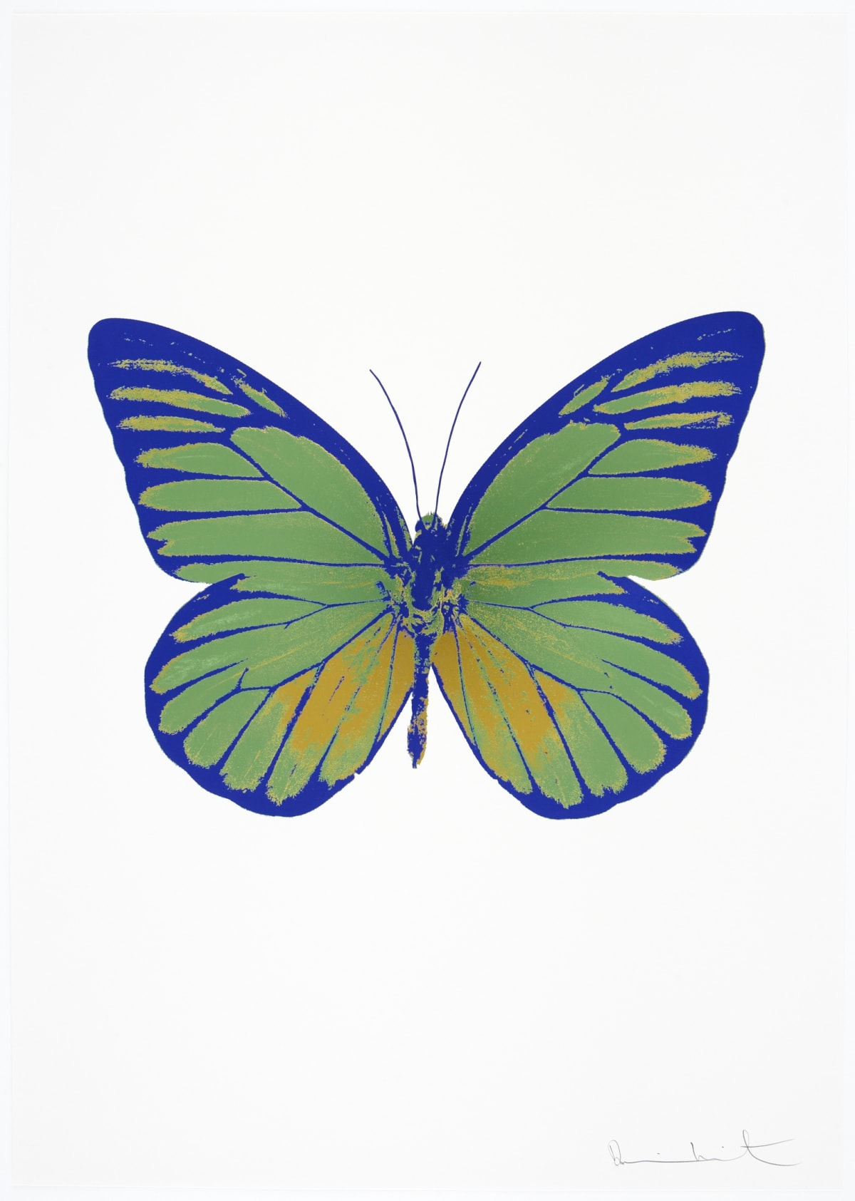 Damien Hirst The Souls I - Leaf Green/Oriental Gold/Westminster Blue, 2010 3 colour foil block on 300gsm Arches 88 archival paper. Signed and numbered. Published by Paul Stolper and Other Criteria 72 x 51cm OC7753 / 659-16 Edition of 15