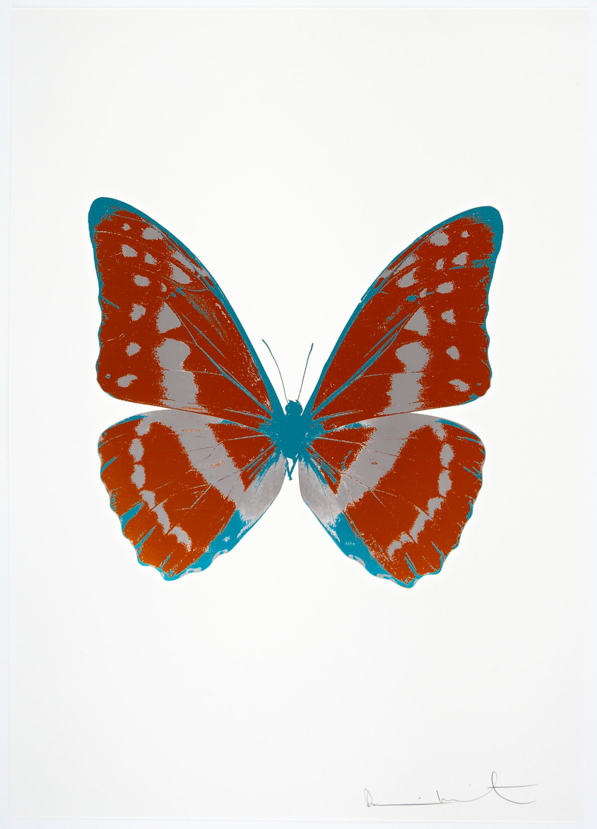 Damien Hirst The Souls III - Prairie Copper/Silver Gloss/Topaz, 2010 3 colour foil block on 300gsm Arches 88 archival paper. Signed and numbered. Published by Paul Stolper and Other Criteria 72 x 51cm OC7915 / 660-18 Edition of 15